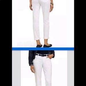 Talbots Boyfriend White Ankle Jeans Size 14